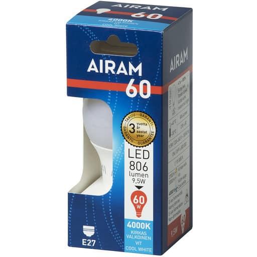 AIRAM LED 60 VAKIO E27 4000K