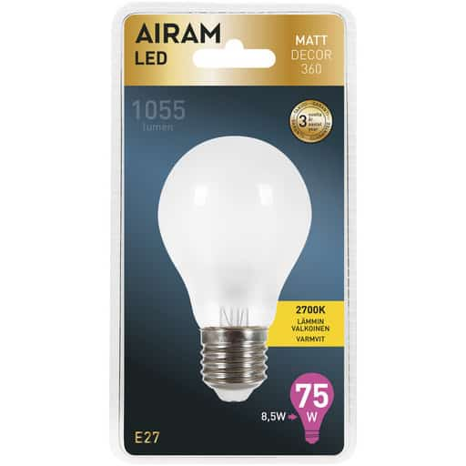 AIRAM LED 75 MATT DECOR VAKIO E27 2700K