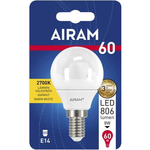 AIRAM LED 60 MAINOS E14 2700K