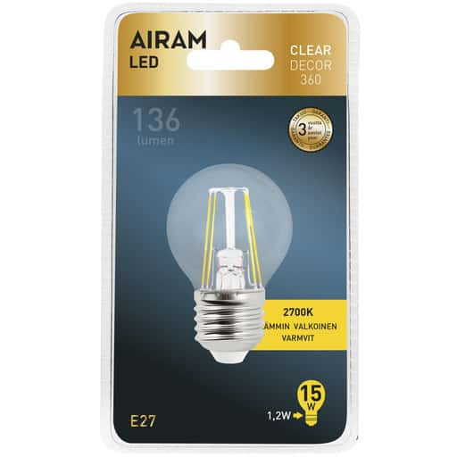 AIRAM LED 15 DECOR KORISTE E27 2700K