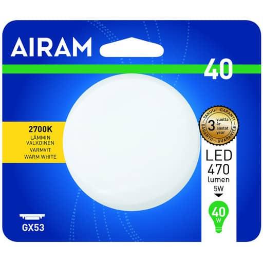 AIRAM LED 40 KÄMMENLAMPPU GX53 2700K