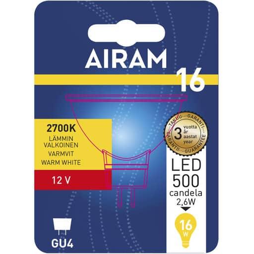 AIRAM LED 16 KOHDE 12V GU4 2700K