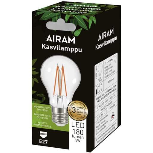 AIRAM LED KASVILAMPPU FILAMENT E27