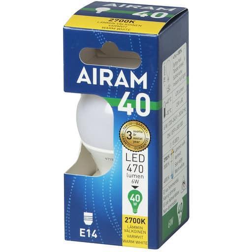 AIRAM LED 40 MAINOS E14 2700K
