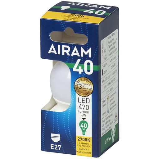AIRAM LED 40 KORISTE E27 2700K