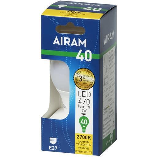 AIRAM LED 40 VAKIO E27 2700K