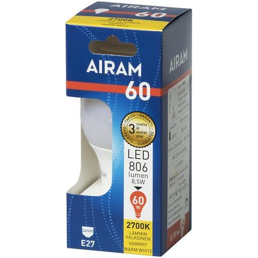 AIRAM LED 60 VAKIO E27 2700K