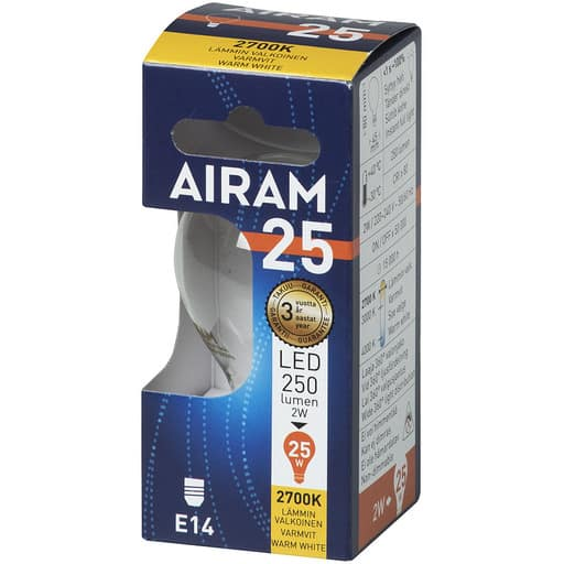 AIRAM LED 25 MAINOS FILAMENT E14 2700K