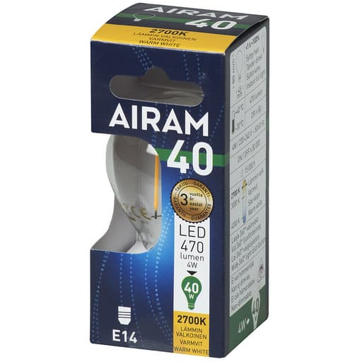 AIRAM LED 40 MAINOS FILAMENT E14 2700K