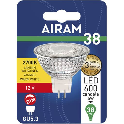 AIRAM LED 38 KOHDE GU5