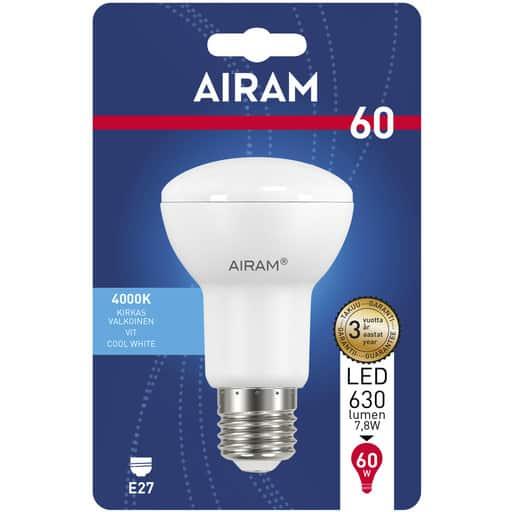 AIRAM LED 60 KOHDE R63 E27 4000K