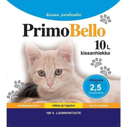 PRIMO BELLO KISSANHIEKKA SILICA 10L  Säästötalo Latvala