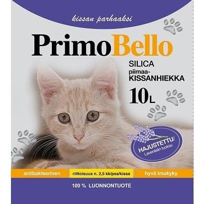 PRIMO BELLO KISSANHIEKKA SILICA HAJUSTETTU LAVENTELI 10L  Säästötalo Latvala