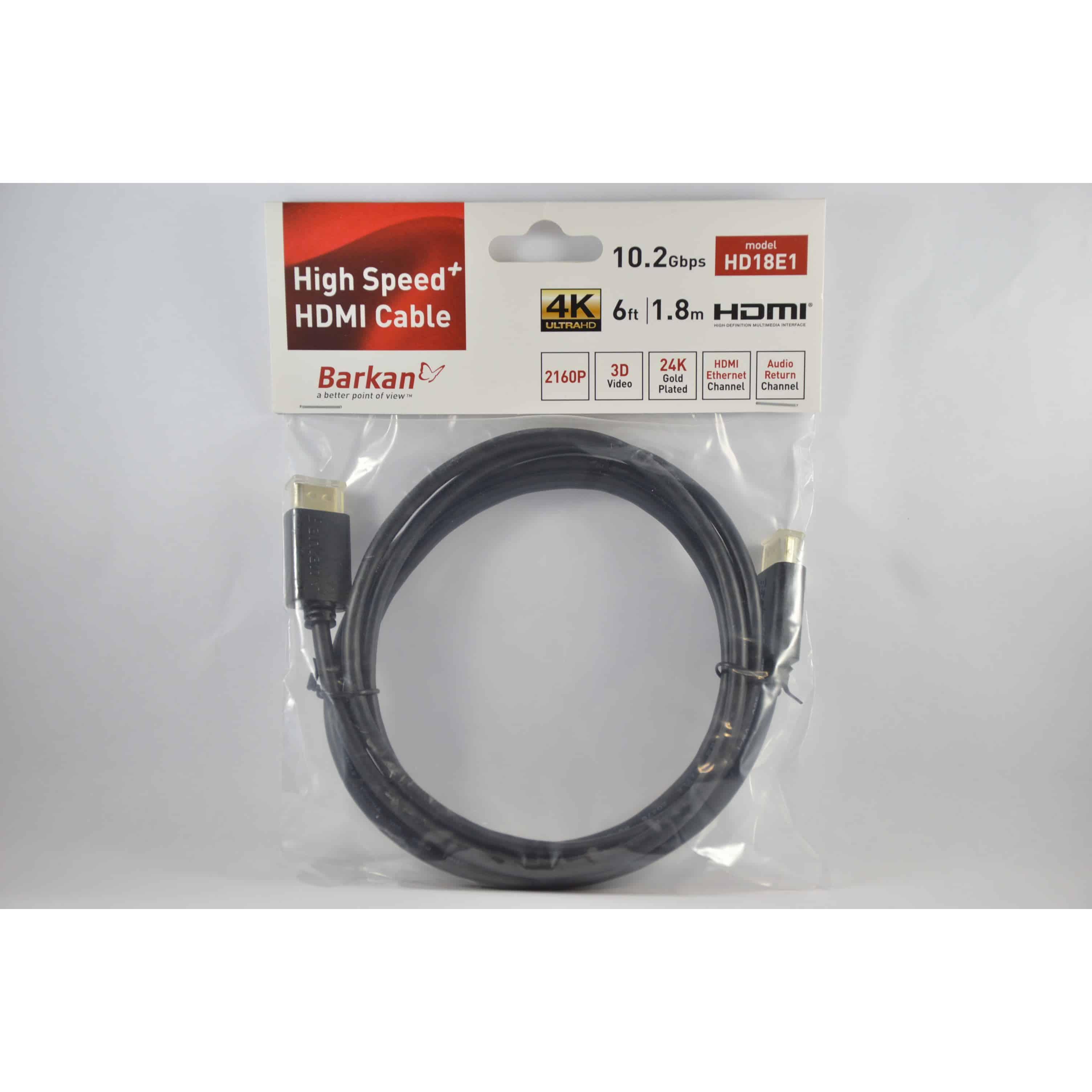 BARKAN HIGH SPEED HDMI-KAAPELI 1