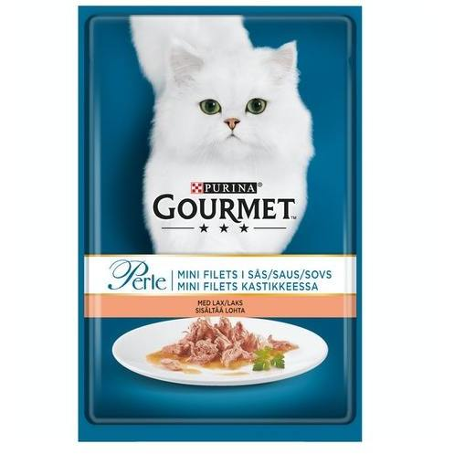 GOURMET PERLE MINI FILETS LOHTA KASTIKKEESSA 85G