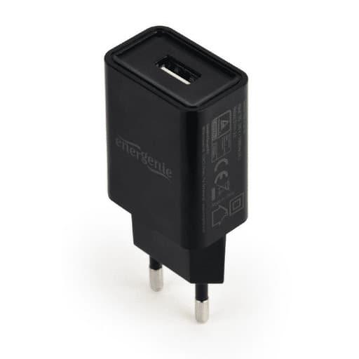 ENERGENIE LATURI USB CHARGER 2.1A MUSTA